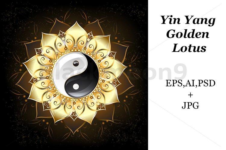 YinYang Golden Lotus example image 1