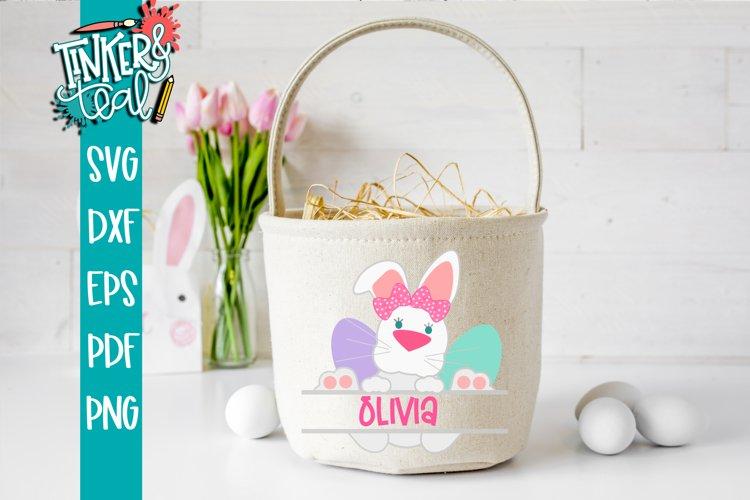 Split Girl Bunny Monogram SVG