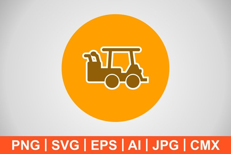 Vector Golf Cart Icon example image 1