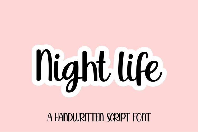 Web Font Night life - a sweet handwritten script font example image 1