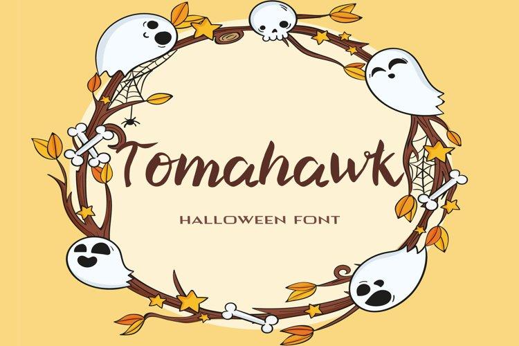 Tomahawk Halloween Font example image 1