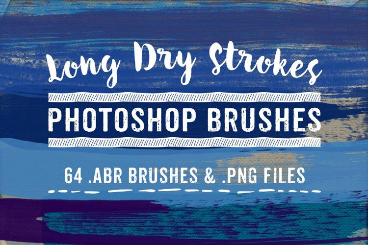 Long Dry Paint Stroke Photoshop Brushes example image 1