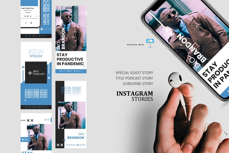 Manager podcast talk ig stories and post keynote template