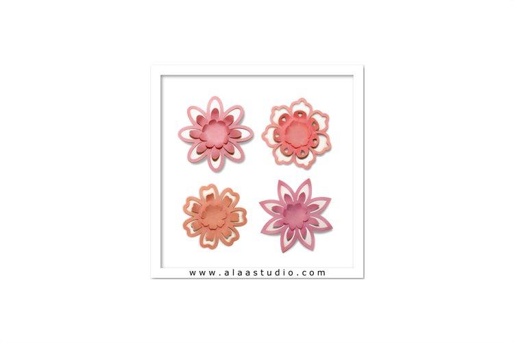 3D Pop out petals flowers set 3, SVG, PDF, SILHOUETTE STUDIO Formats