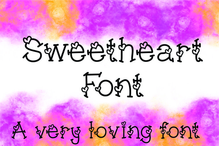 Sweetheart Hand Lettered Heart Font example image 1