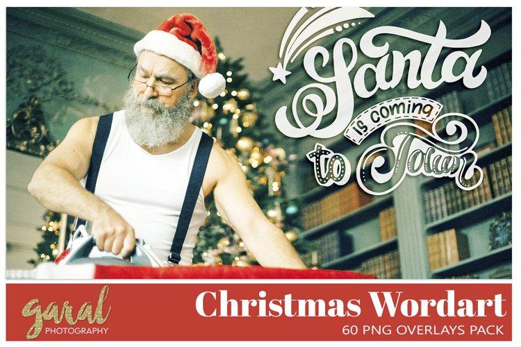 60 CHRISTMAS WORDART PNG Overlays