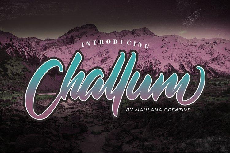 Challum Handwritten Script Font example image 1