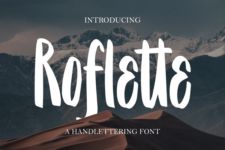 Roflette - A Handlettering Font example image 1