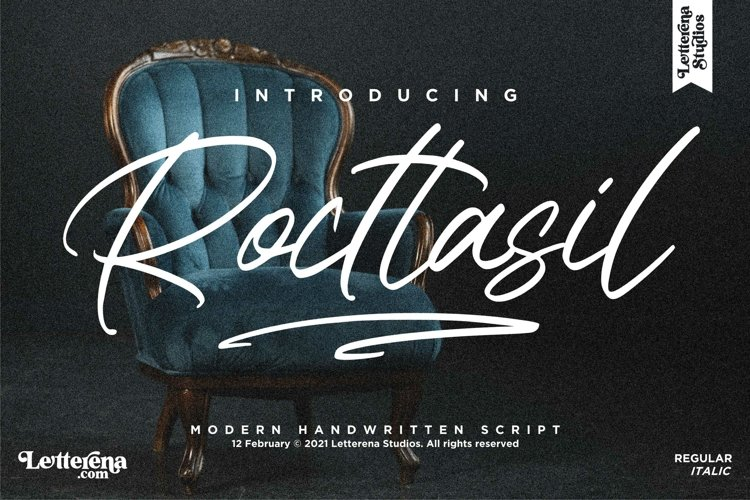 Rocttasil - Signature Script Font, example image 1
