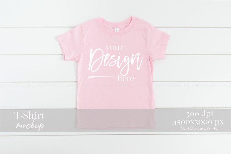 Mockup T-Shirt PINK | 3001T Bella Canvas Mockup example image 1