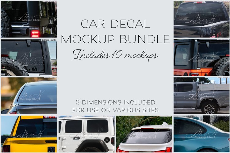 Car Decal Mockup Bundle 1