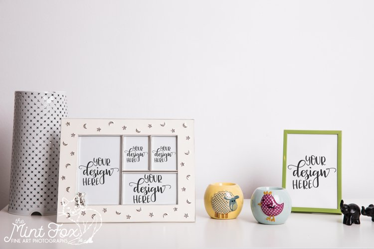 Set of Small Picture Picture Frame Mockup, Multiple Frames