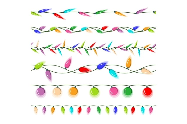 Christmas Lights Vector. Garlands