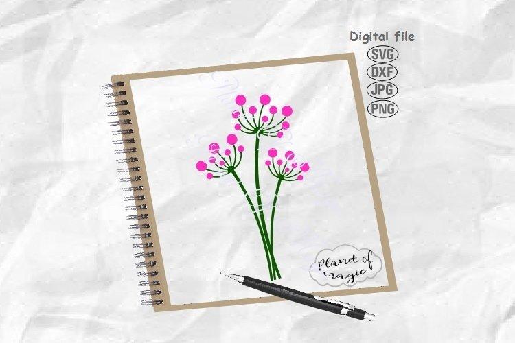 Flower Svg, Blowball Svg, Floral Svg, Plant Svg