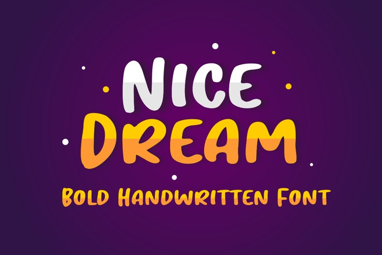 Nice Dream - Display Font example image 1