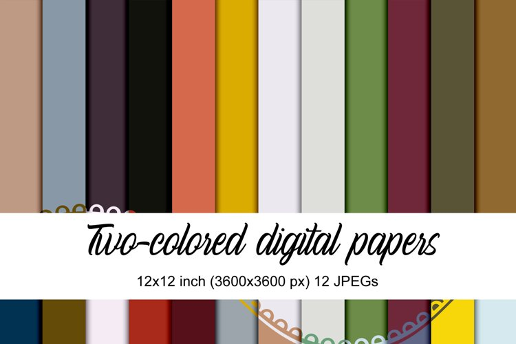 Two-colored digital papers