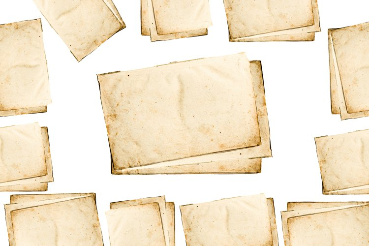 old Sheets of paper on a white background. example image 1