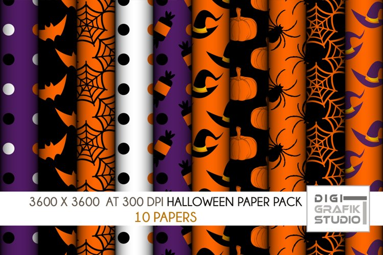 10 Halloween Seamless Pattern Paper Pack Vol 1 example image 1