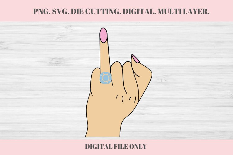 Wedding Ringer Finger, Wedding SVG, Ring Finger, Engaged example image 1