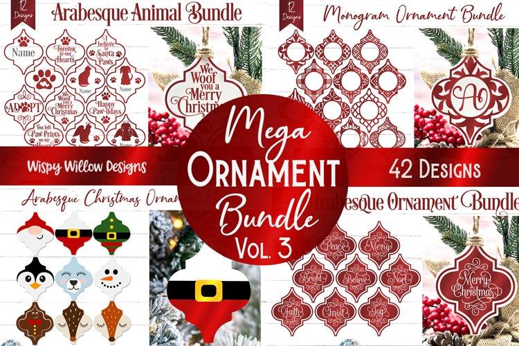 Mega Ornament SVG Bundle 3   Arabesque Christmas Ornaments example image 1