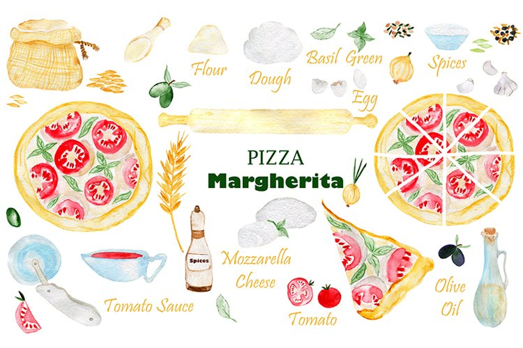 Pizza Margherita. Pizza party. Pizza birthday.