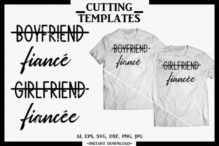Fiance, Couples, Silhouette, Cricut, Cut File, SVG, DXF, PNG