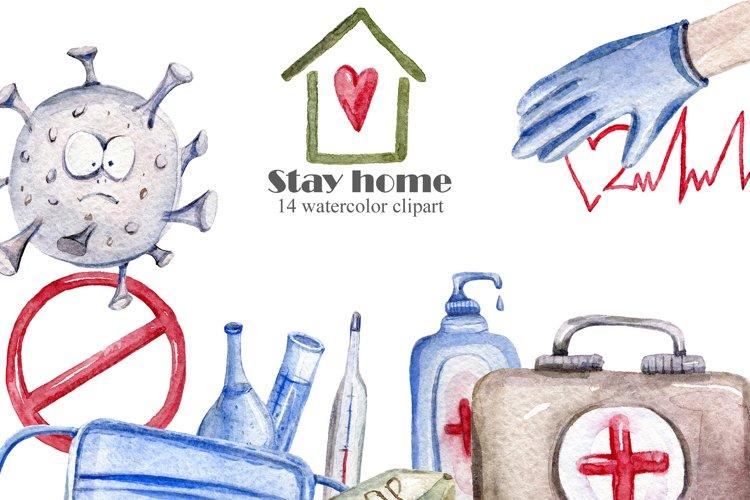 Coronavirus Quarantine clipart. Stop covid, stay home