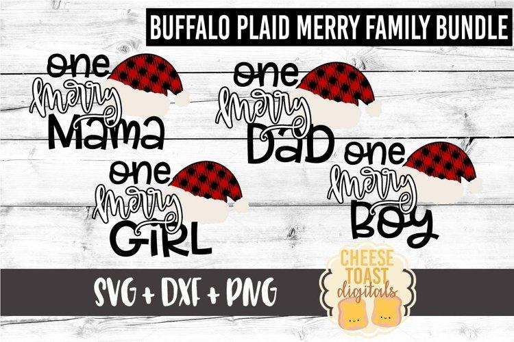 Buffalo Plaid Family Christmas Bundle SVG PNG DXF Cut Files example image 1