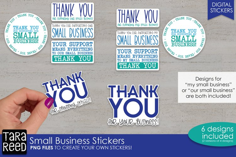 Sticker Bundle PNG - Small Business Customer Appreciation