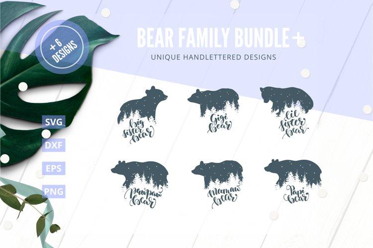 Bear family Bundle SVG Cut File Plus|SVG |DXF |EPS |PNG