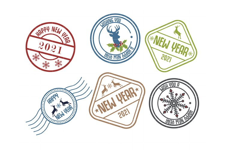 2021 New Year Stamp Badge example image 1