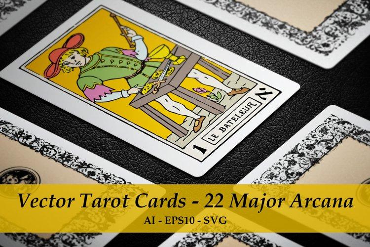 Vector Tarot Cards - 22 Major Arcana example image 1