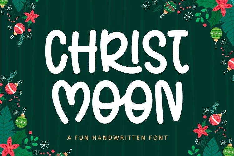 Christ Moon - A Fun Handwritten Christmas Font example image 1