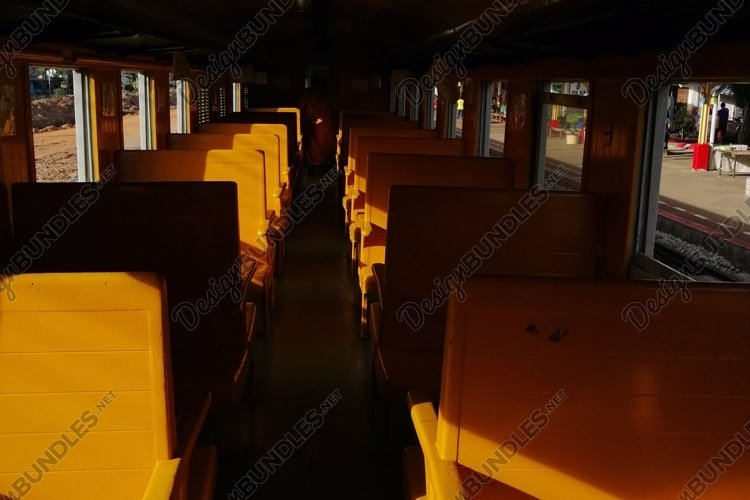 Morning train with no people