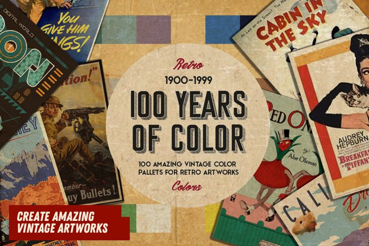 100 Retro Vintage Pallets - Create Retro Artworks !