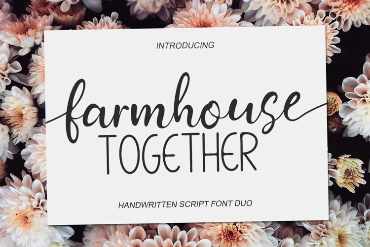 Farmhouse Together - font Duo example image 1