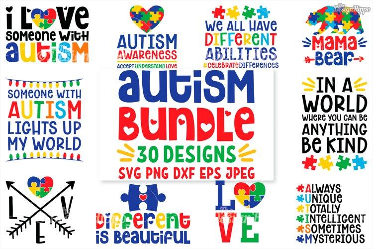 Autism SVG Bundle, 30 Designs, DXF PNG Cricut Cutting Files