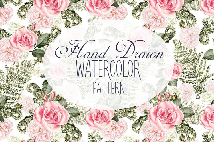 13 Hand Drawn Watercolor Pattern example image 1