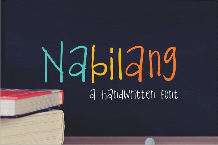 Nabilang - A Handwritten Font example image 1