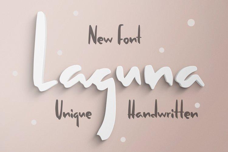 Laguna - Unique Handwritten Font example image 1