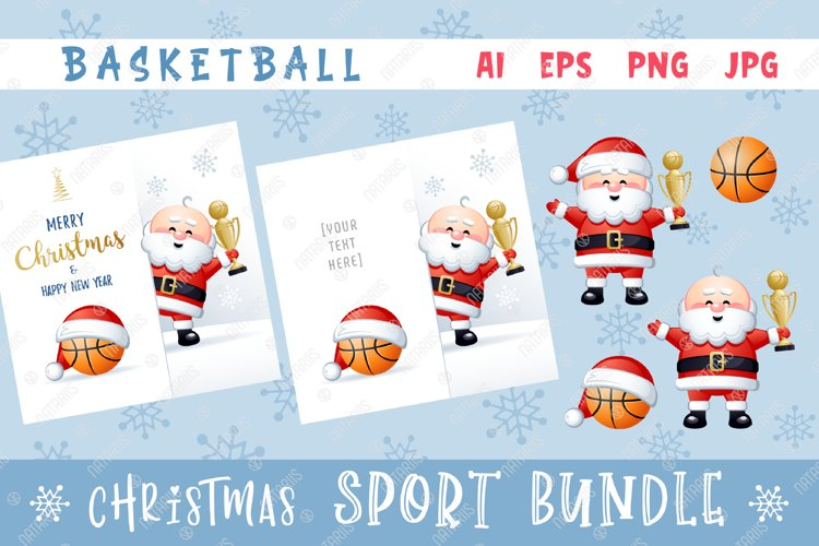 Merry Christmas and Happy New Year. Basketball. example image 1