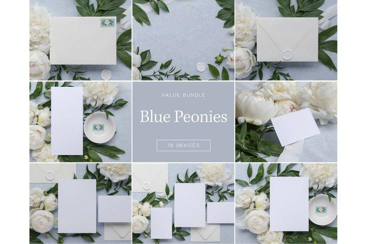 Blue Peonies Bundle - 18Images