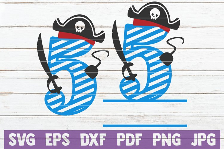 Pirates Birthday No 5 SVG Cut File example image 1