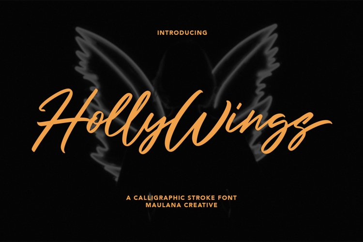 Holly Wings Calligraphic Font example image 1