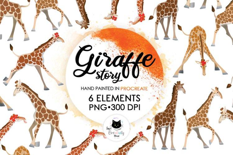 Cute Animal Safari PNG Sublimation Designs   Giraffe Clipart example image 1