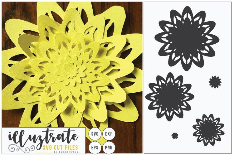 Paper Cut Flowers SVG Cut File - Paper Cutting Bundle DIY - Free Design of The Week Design4