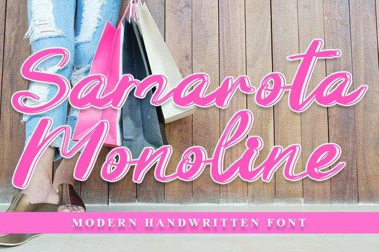 Samarota Monoline - Beautiful Handwritten Font example image 1
