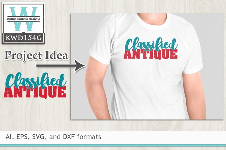 Birthday SVG - Classified Antique