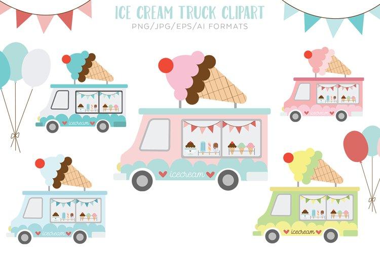 Ice Cream Truck Vector Clipart