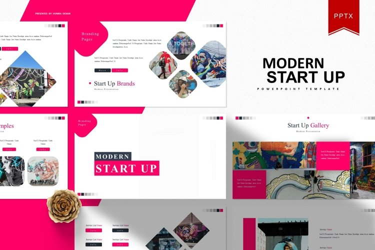 Modern Start Up | Powerpoint Template example image 1